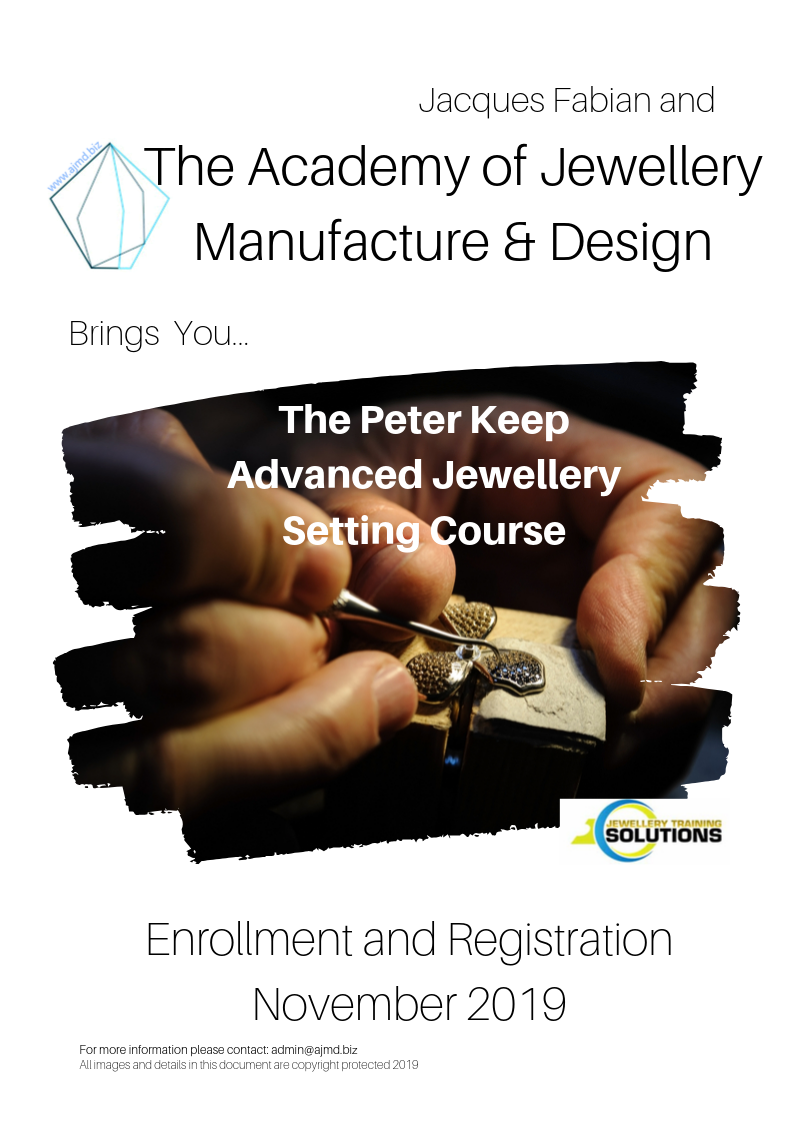 November Advanced Setting Course at the Academy of Jewellery Manufacture