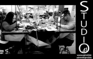 Students learning Hand Engraving